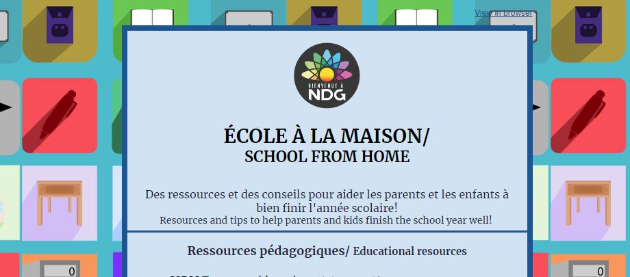 SCHOOL FROM HOME Resources and tips to help parents and kids