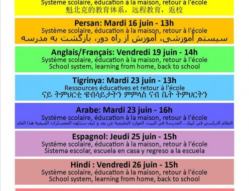 Multilingual workshops on the school system – June