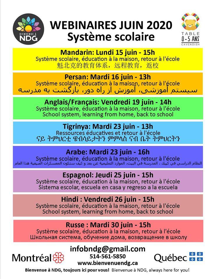 Multilingual workshops on the school system – June