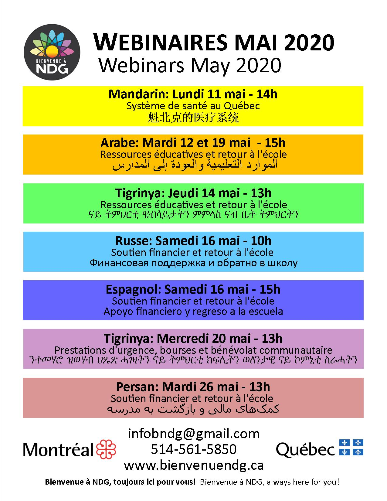 BNDG: multilingual webinars May 2020