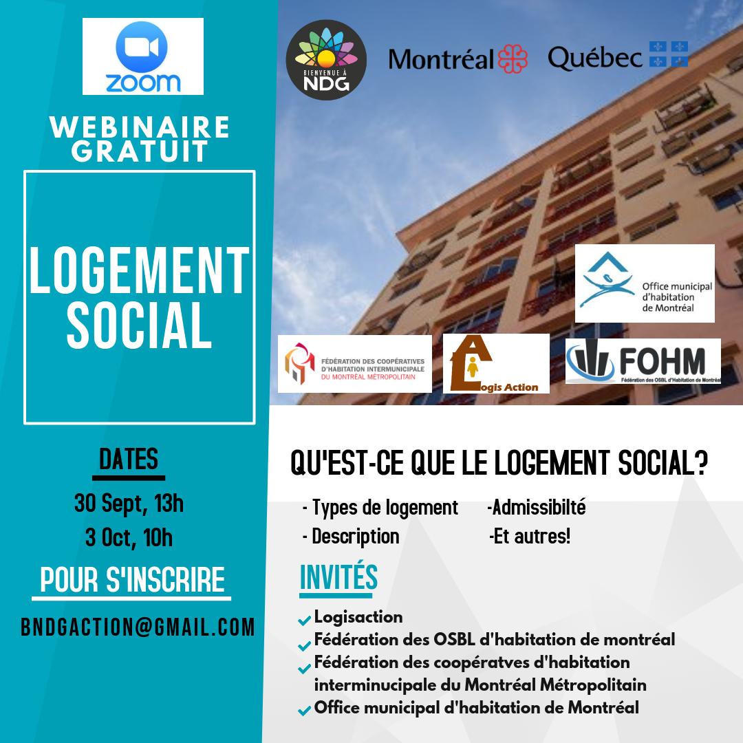 WEBINAIRE GRATUIT: Logement social