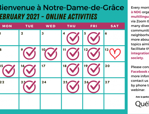 Event calendar February 2021