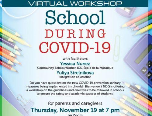 School during Covid-19: Virtual workshop